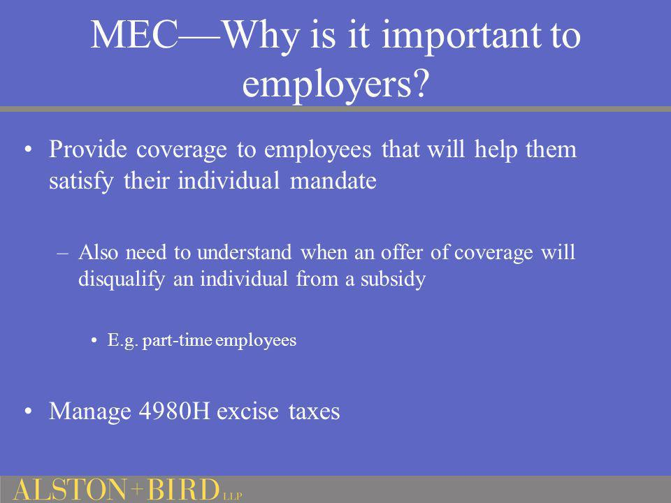 MEC—Why is it important to employers