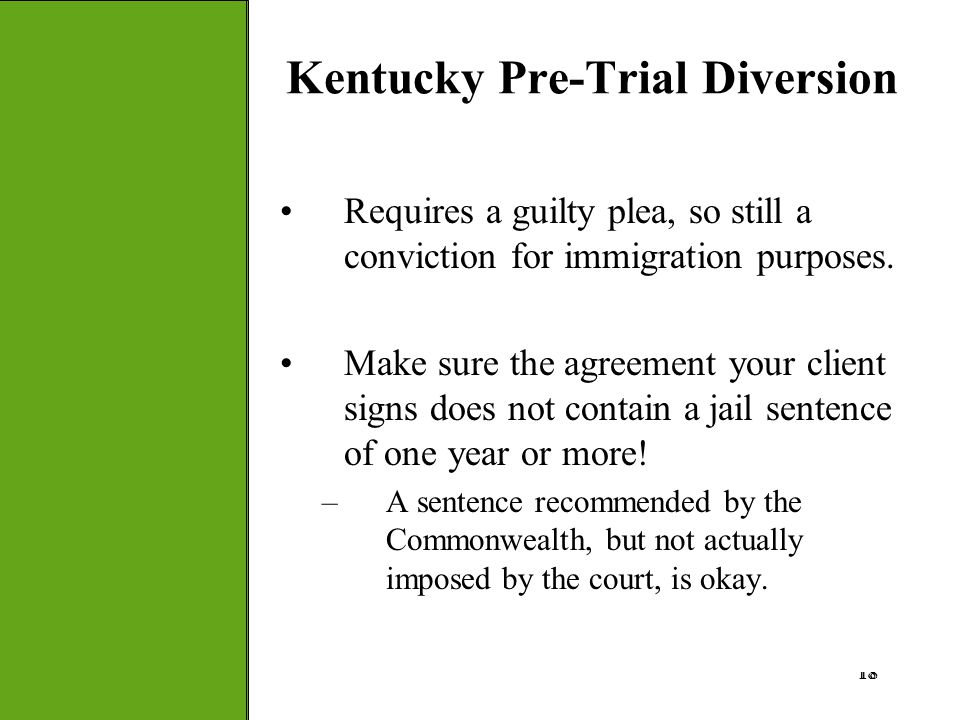Kentucky Pre-Trial Diversion
