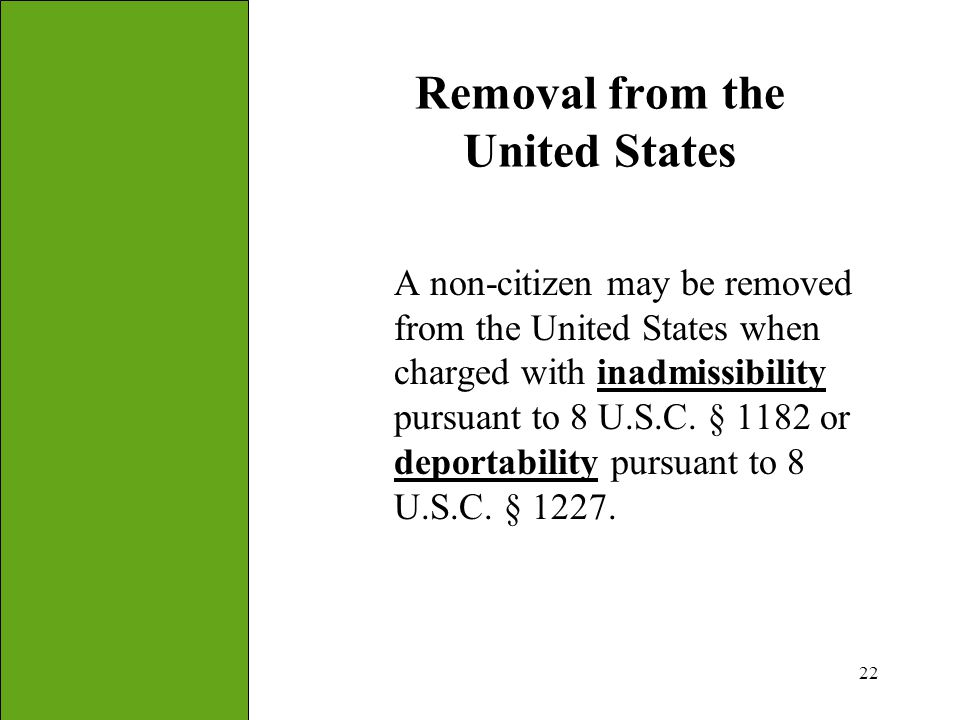 Removal from the United States