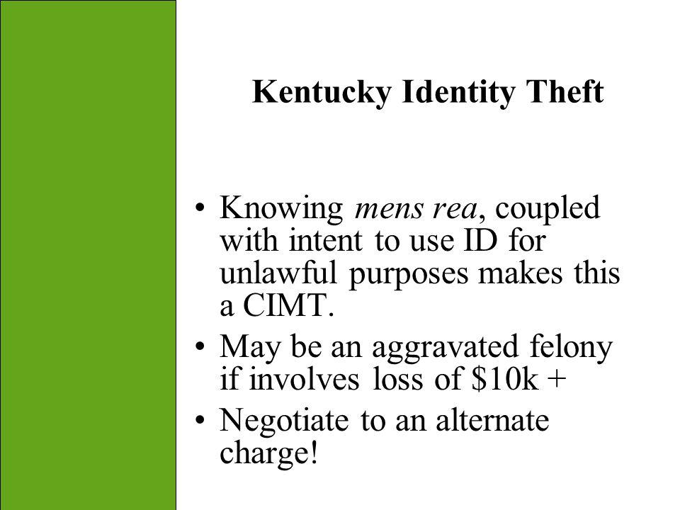 Kentucky Identity Theft