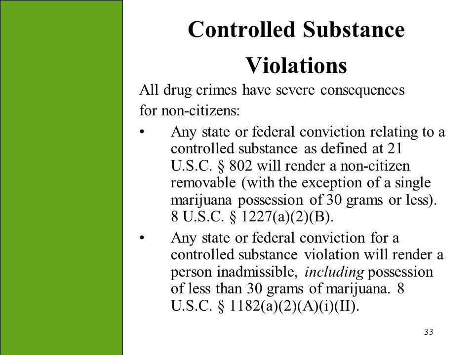 Controlled Substance Violations