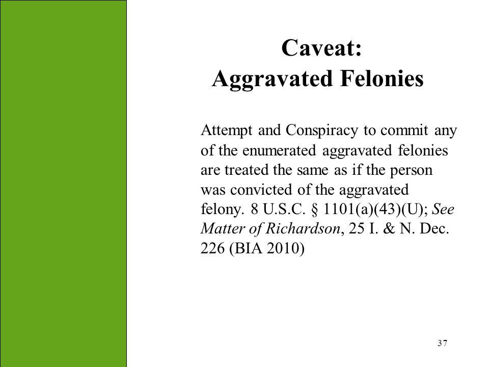 Caveat: Aggravated Felonies