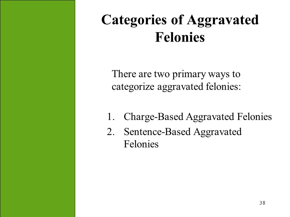 Categories of Aggravated Felonies