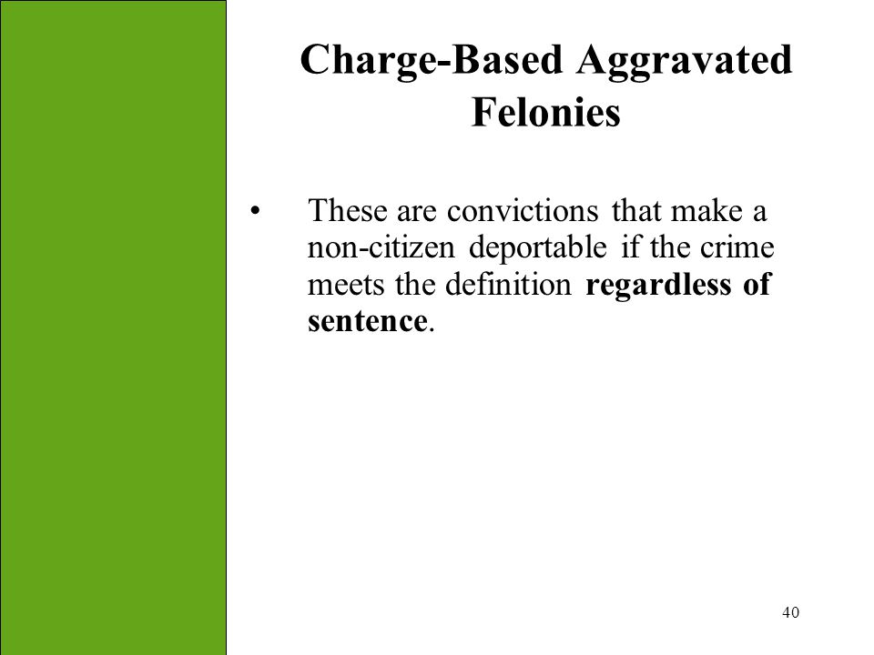 Charge-Based Aggravated Felonies