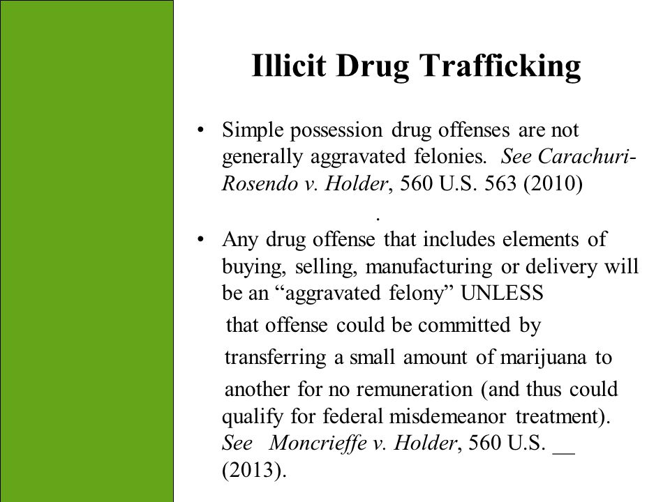 Illicit Drug Trafficking