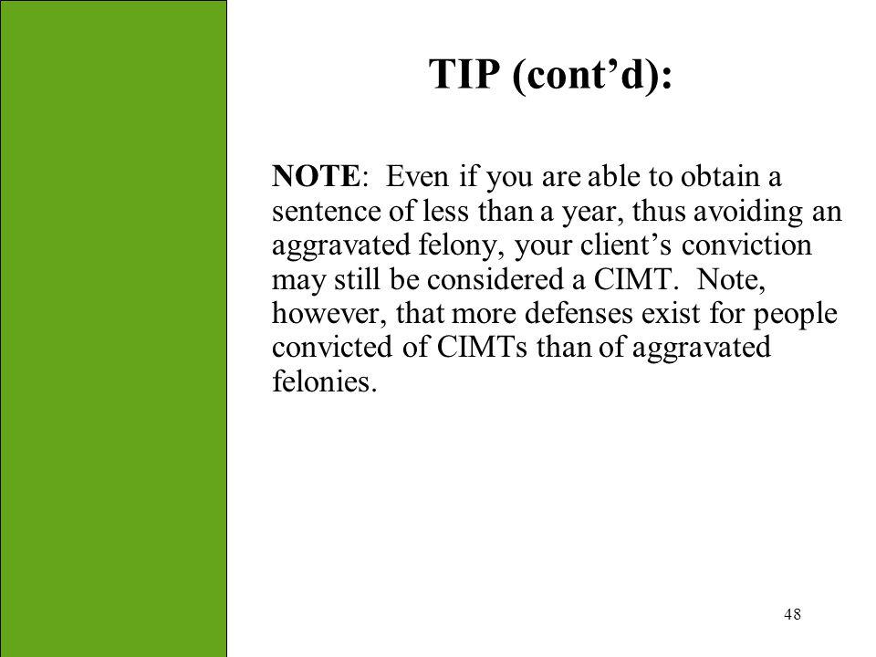 TIP (cont'd):