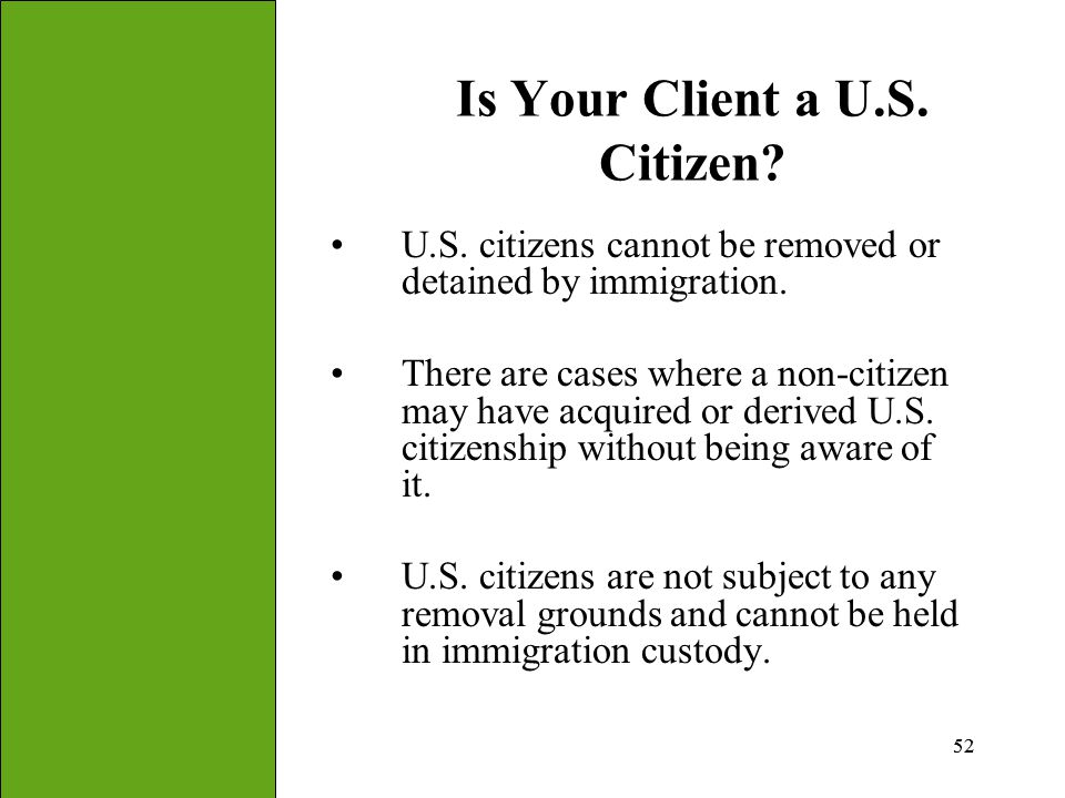 Is Your Client a U.S. Citizen