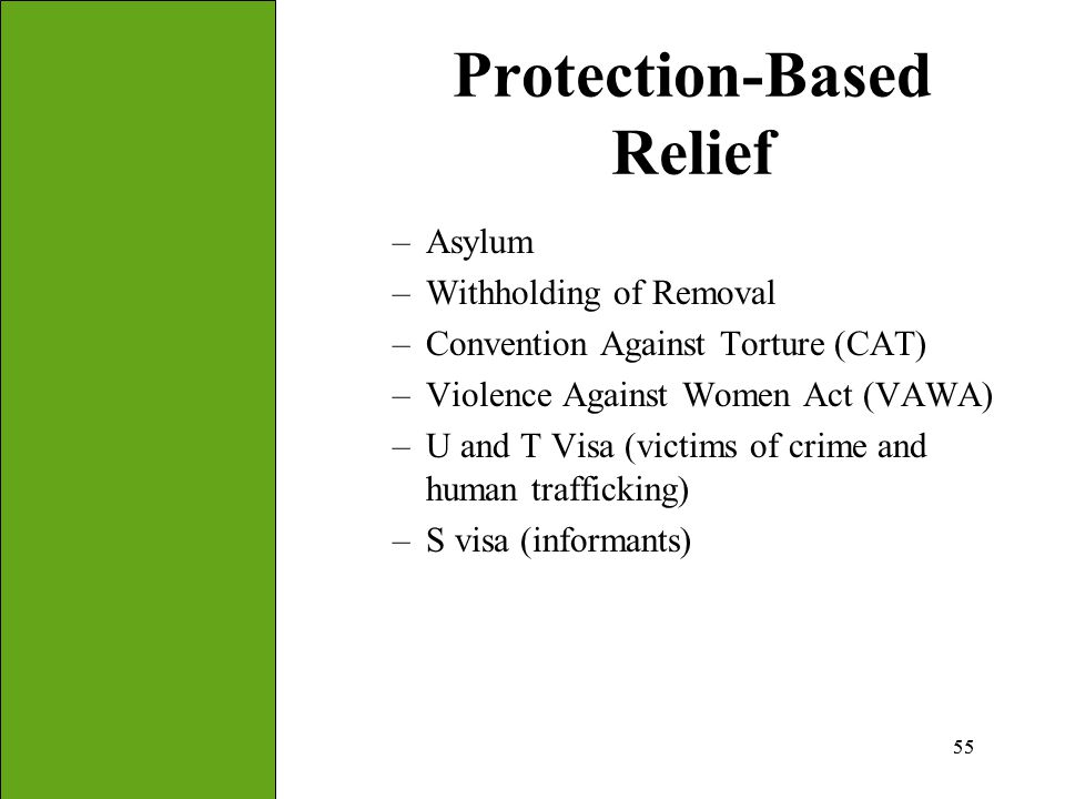 Protection-Based Relief