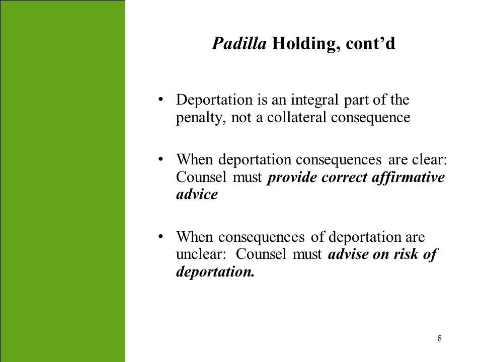 Padilla Holding, cont'd