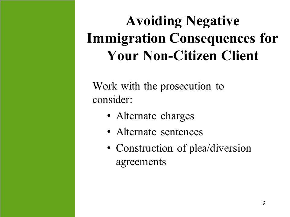 Avoiding Negative Immigration Consequences for Your Non-Citizen Client