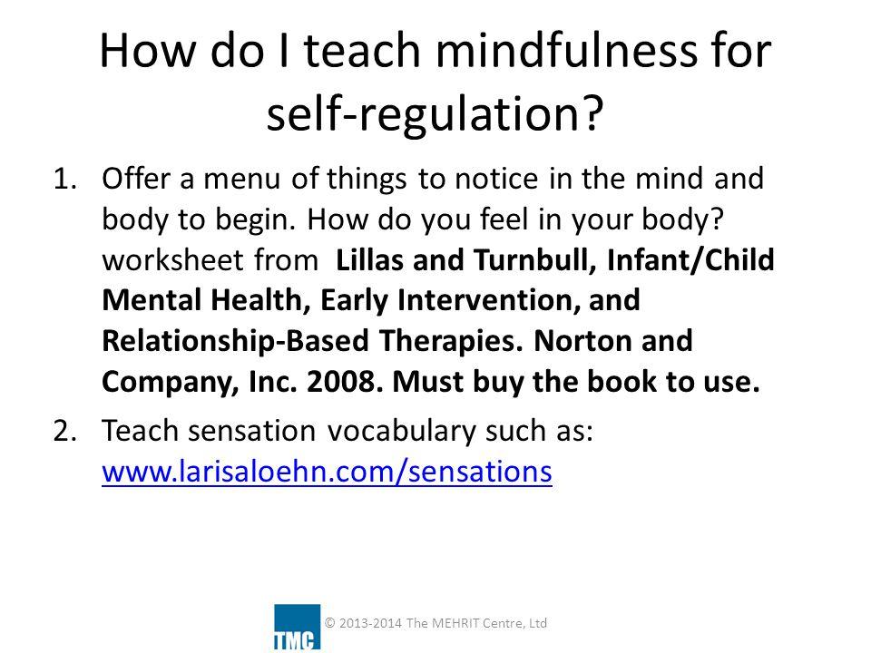 How do I teach mindfulness for self-regulation