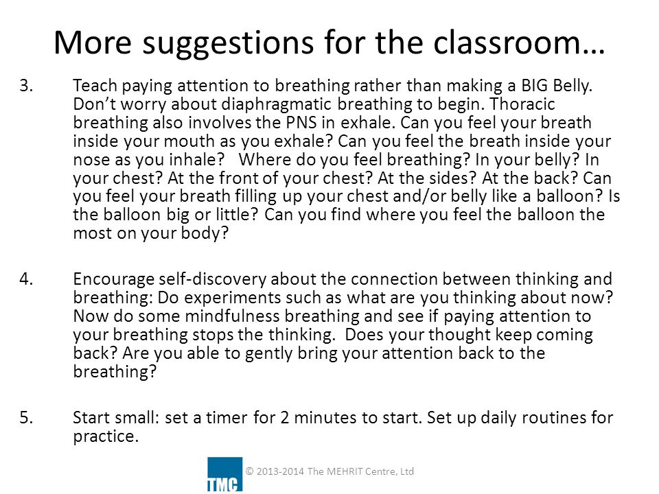 More suggestions for the classroom…