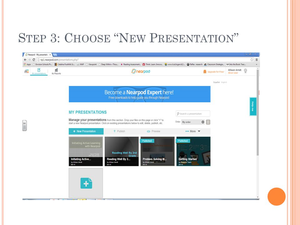 Step 3: Choose New Presentation