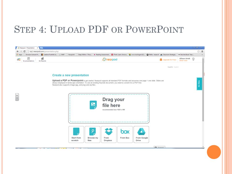 Step 4: Upload PDF or PowerPoint