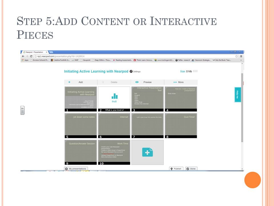 Step 5:Add Content or Interactive Pieces