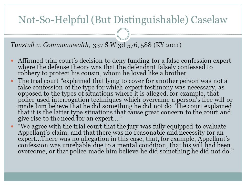 Not-So-Helpful (But Distinguishable) Caselaw