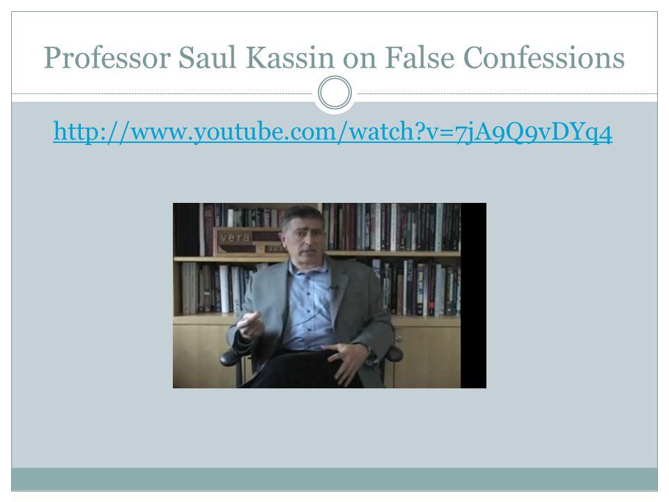 Professor Saul Kassin on False Confessions