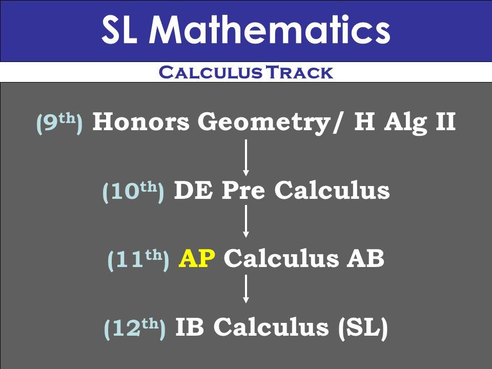 (9th) Honors Geometry/ H Alg II