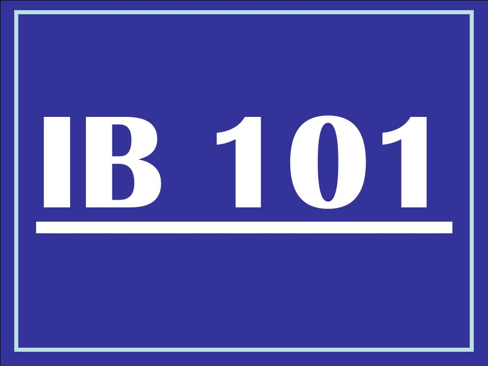 IB 101
