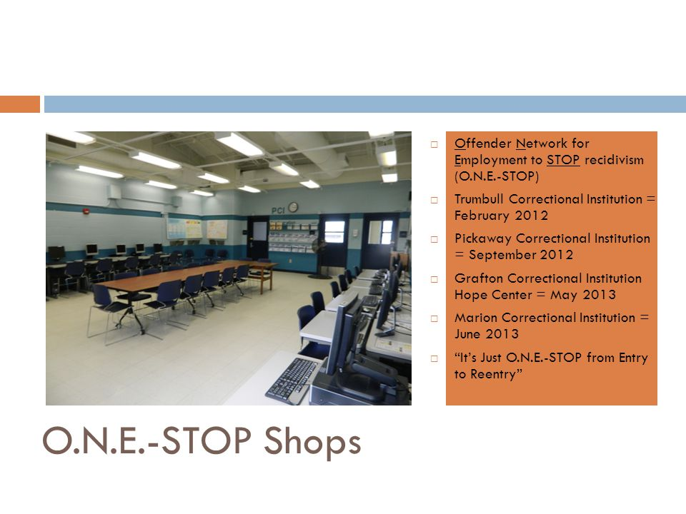 Offender Network for Employment to STOP recidivism (O.N.E.-STOP)