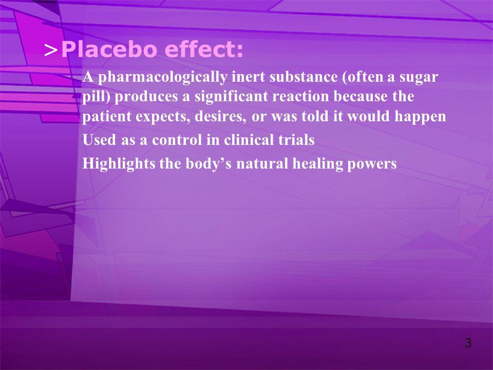 Placebo effect: