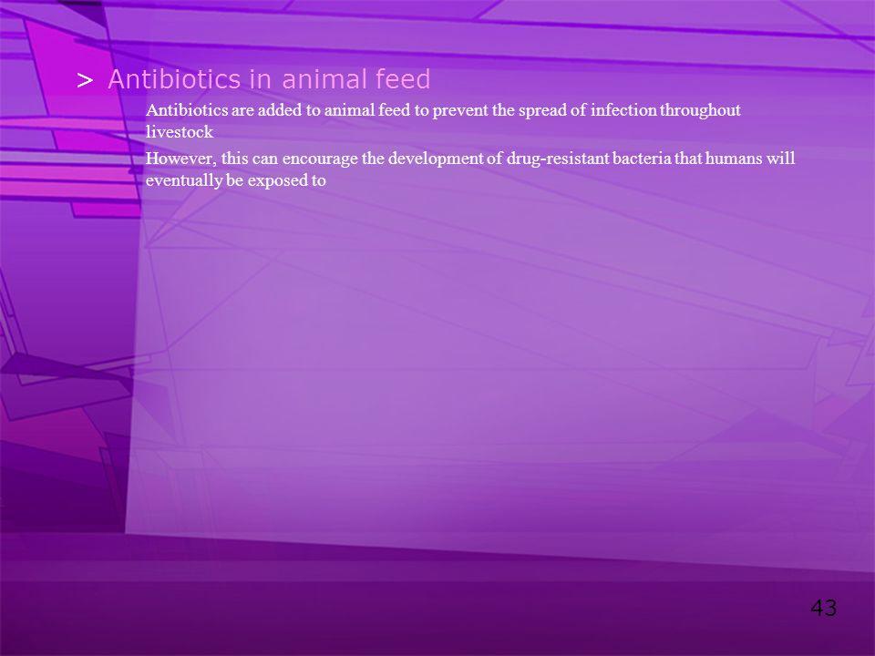 Antibiotics in animal feed