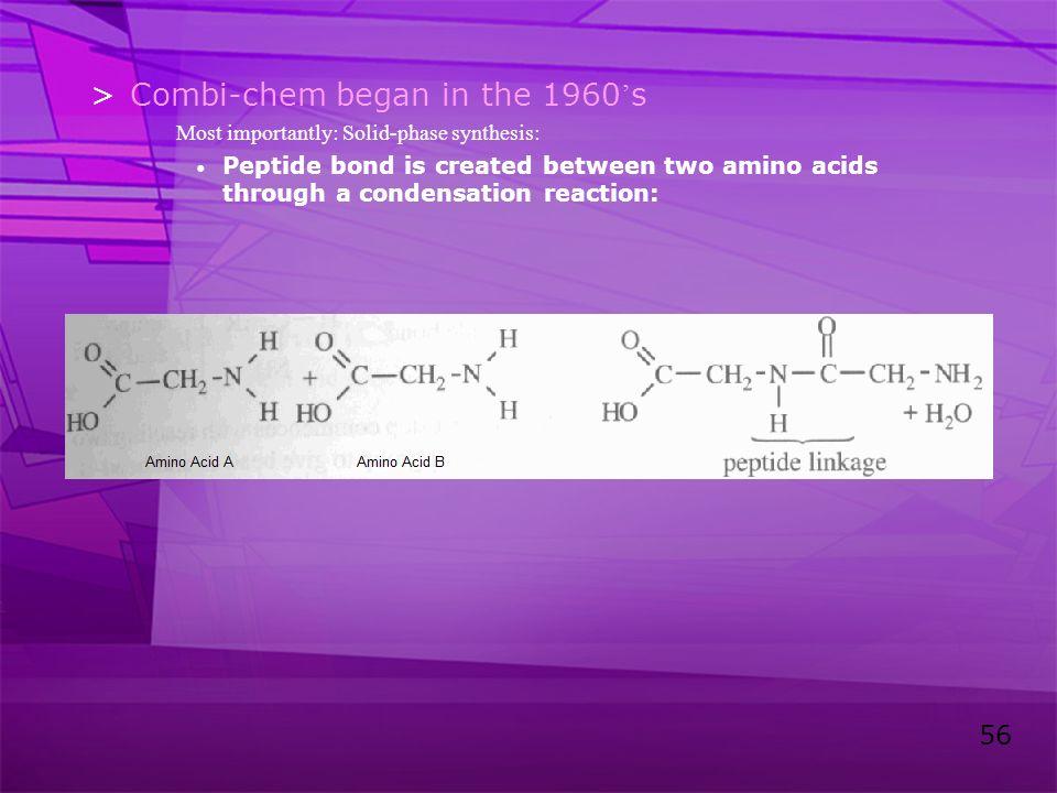 Combi-chem began in the 1960's