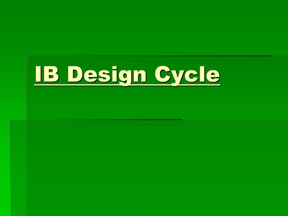 IB Design Cycle