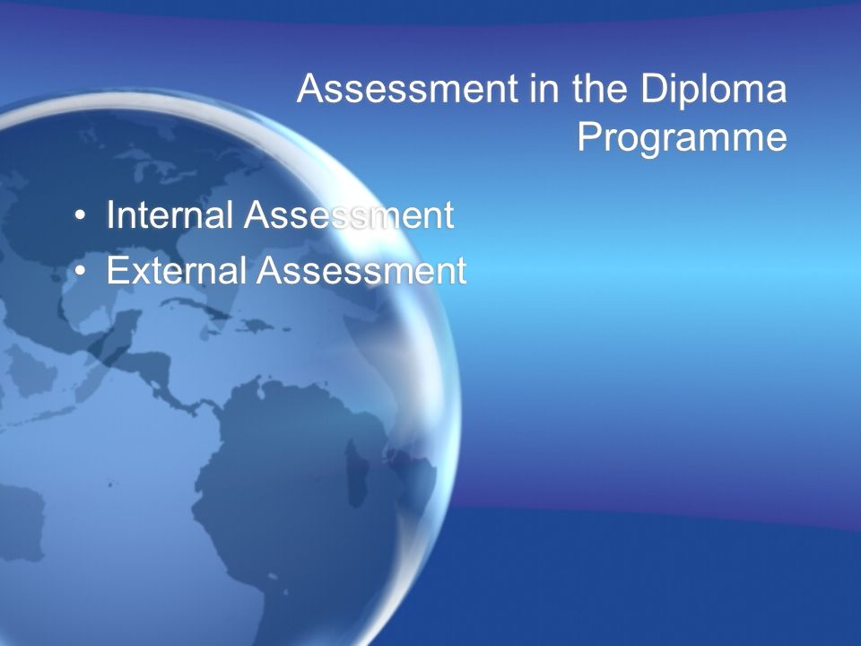 Assessment in the Diploma Programme