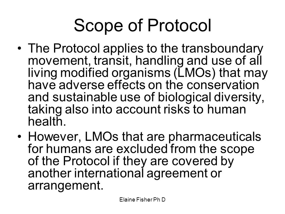 Scope of Protocol