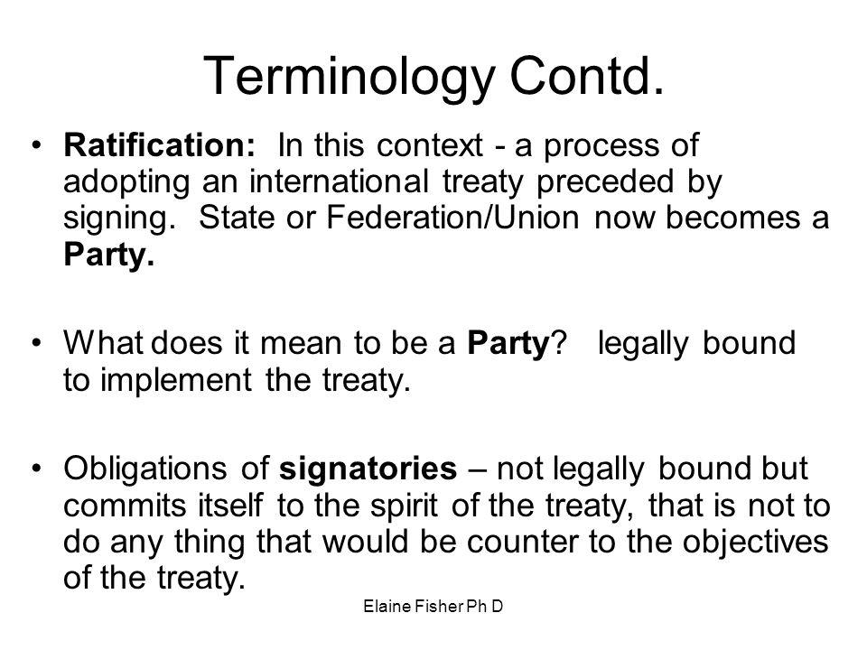 Terminology Contd.