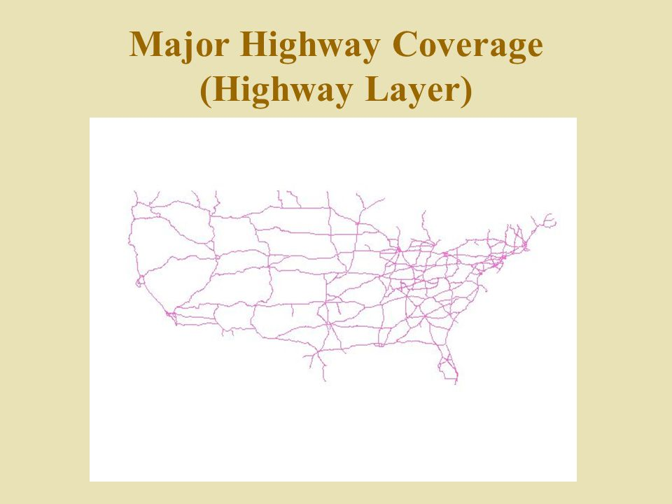 Major Highway Coverage (Highway Layer)