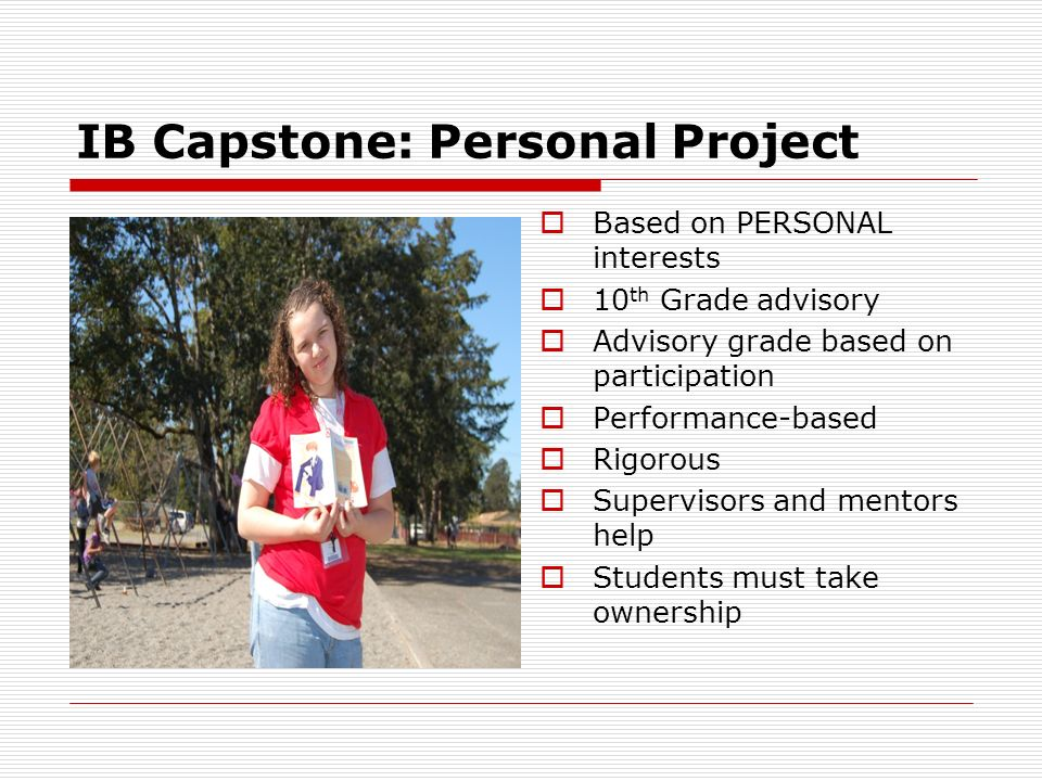 IB Capstone: Personal Project