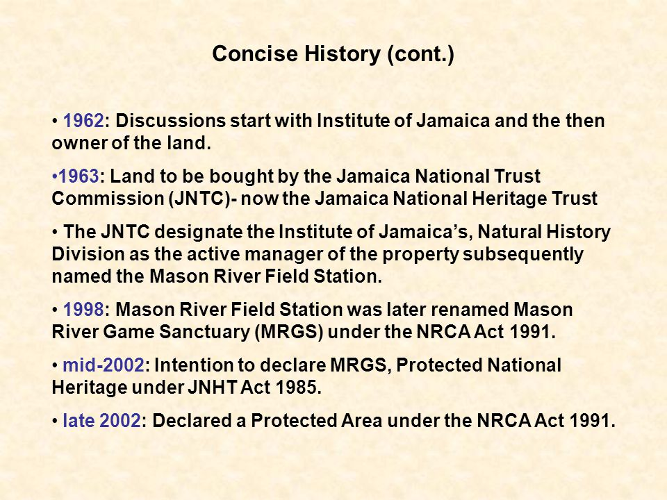 Concise History (cont.)
