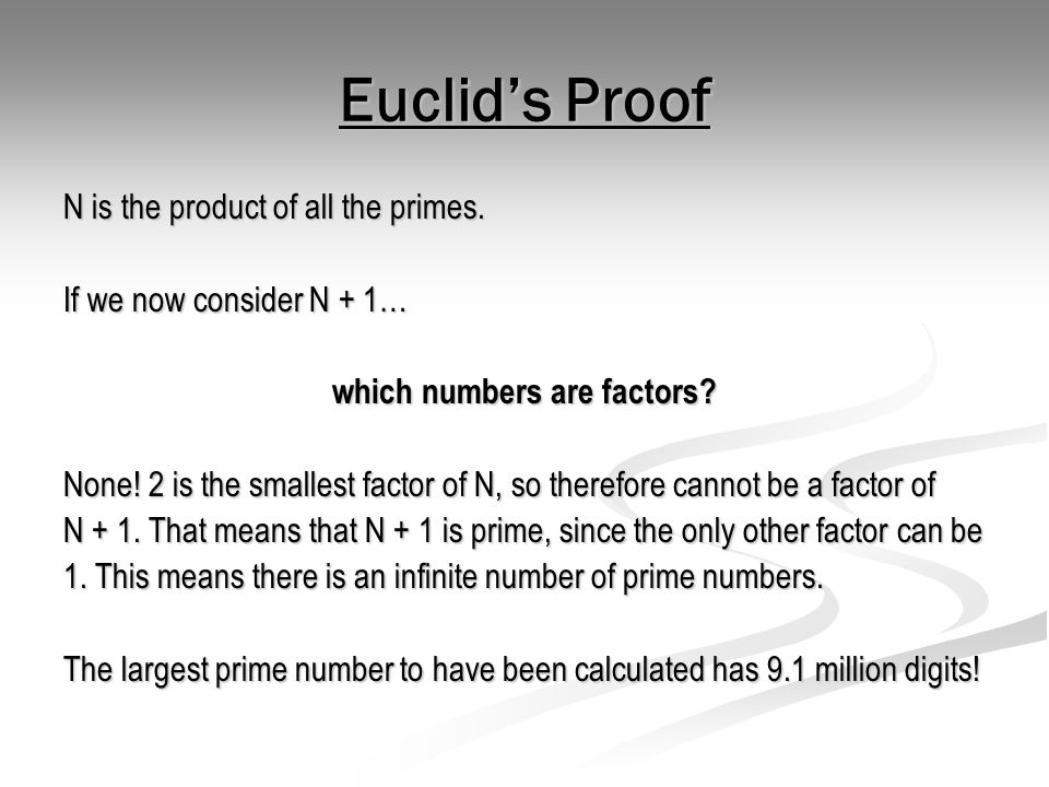 which numbers are factors