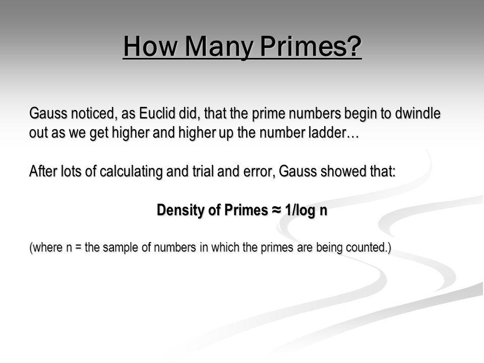 Density of Primes ≈ 1/log n