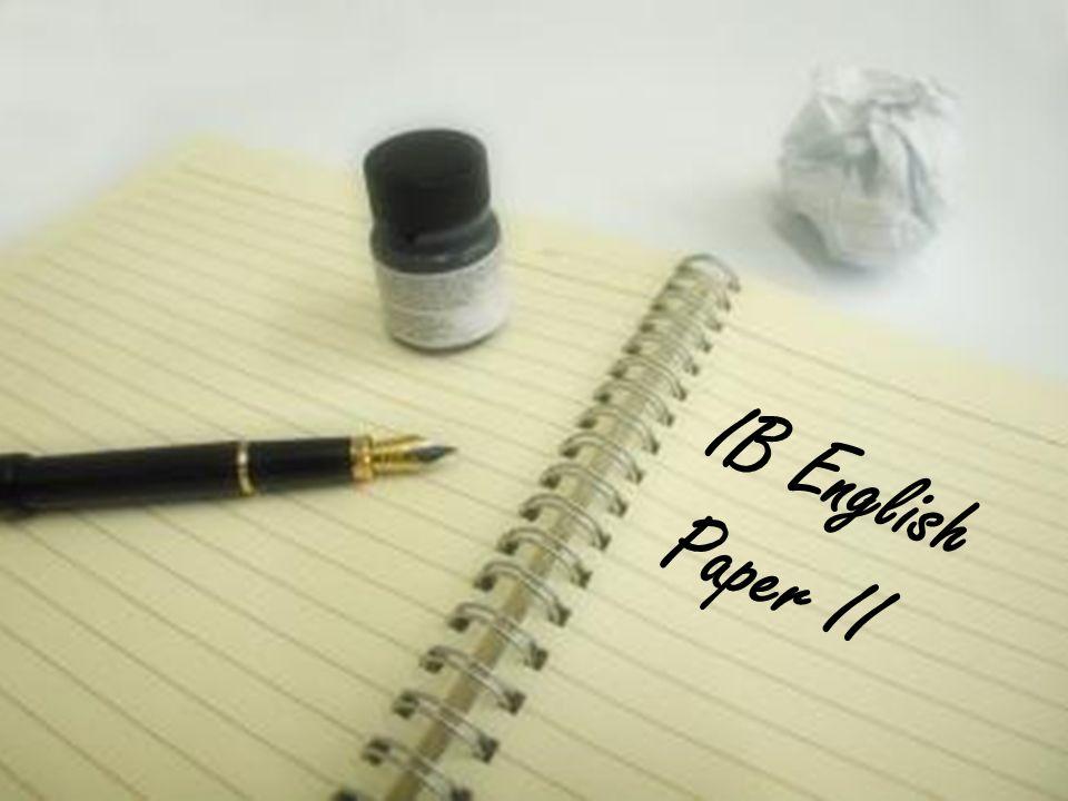 IB English Paper II