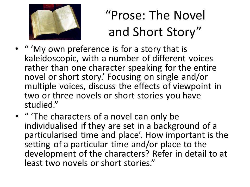Prose: The Novel and Short Story