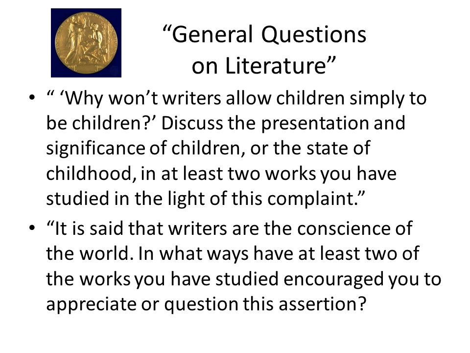 General Questions on Literature