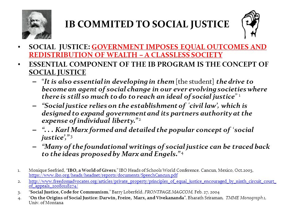 IB COMMITED TO SOCIAL JUSTICE