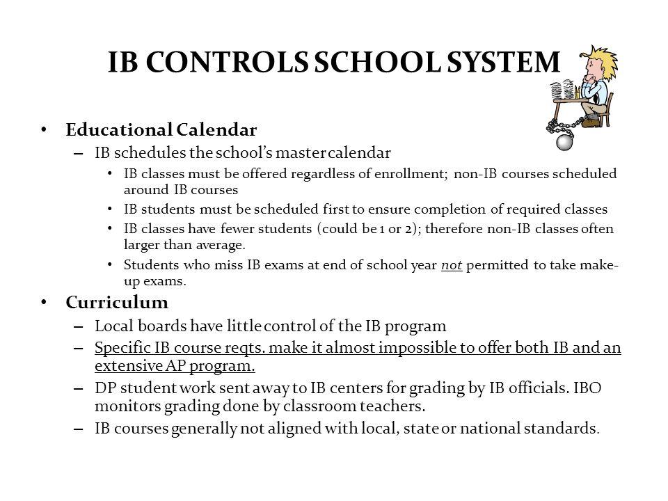 IB CONTROLS SCHOOL SYSTEM