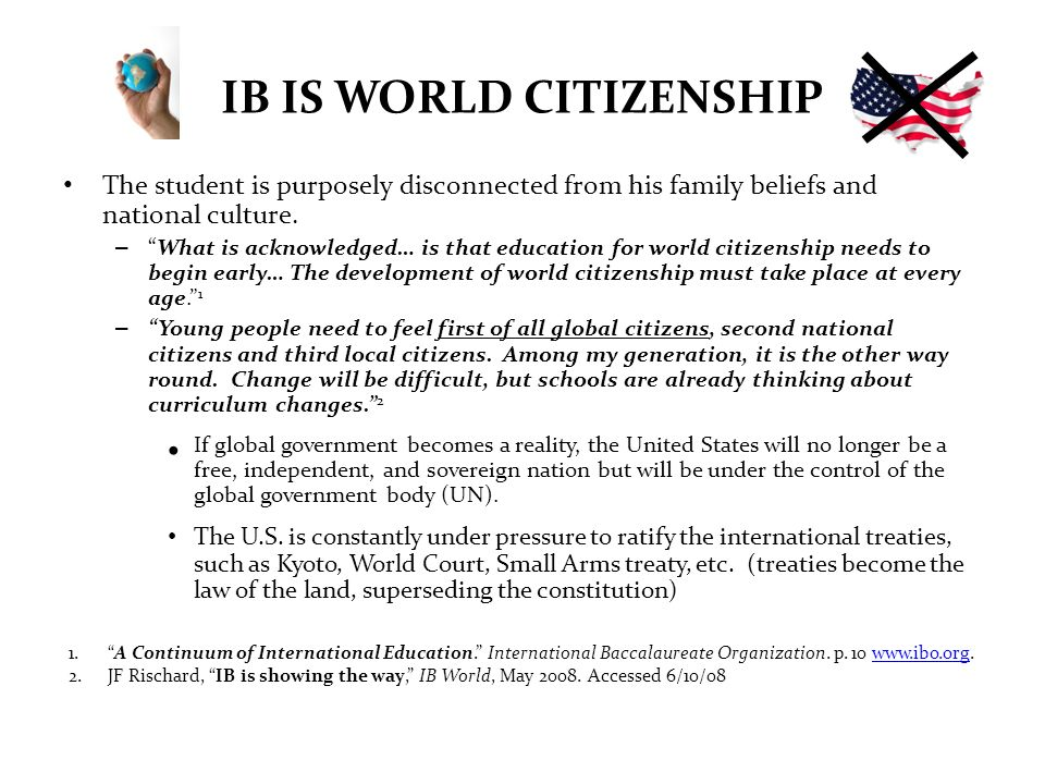 IB IS WORLD CITIZENSHIP