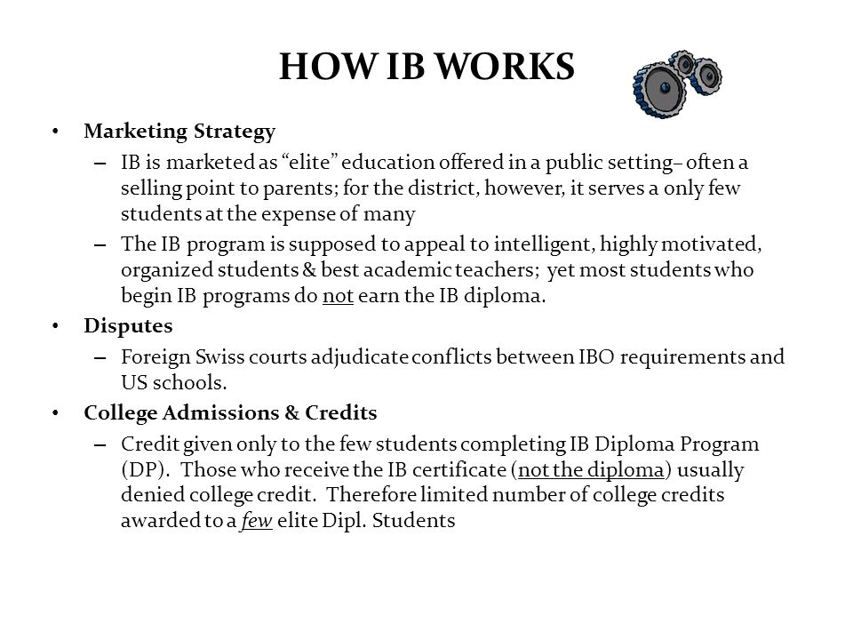 HOW IB WORKS Marketing Strategy