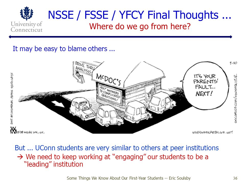 NSSE / FSSE / YFCY Final Thoughts ... Where do we go from here