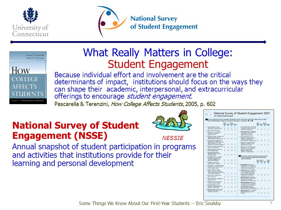 What Really Matters in College: Student Engagement