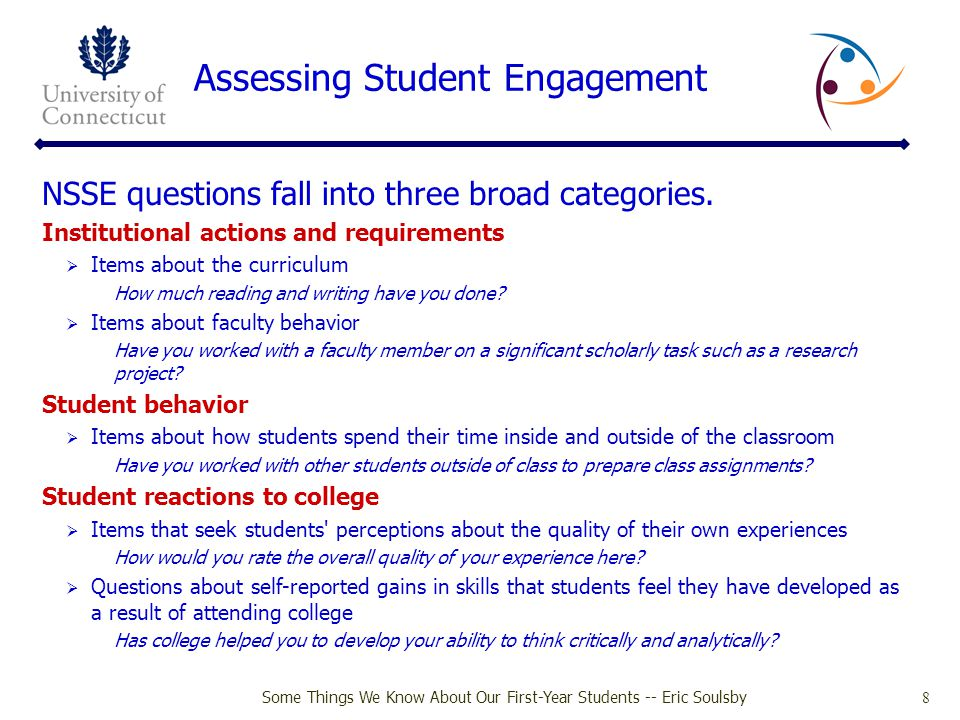 Assessing Student Engagement