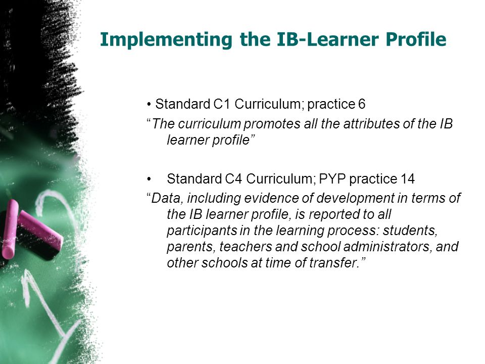 Implementing the IB-Learner Profile