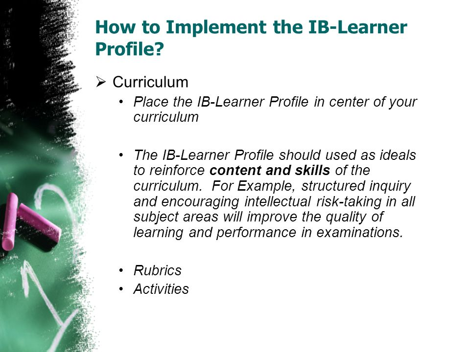 How to Implement the IB-Learner Profile