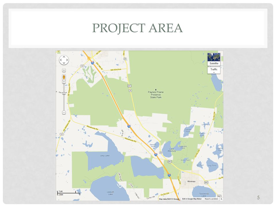 Project area I-75 – Micanopy (CR 234) to Gainesville (Archer Road)