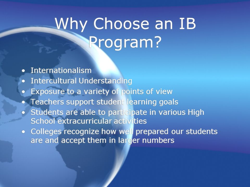 Why Choose an IB Program